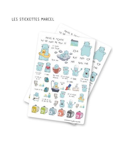 Sticckettes avec Marcel