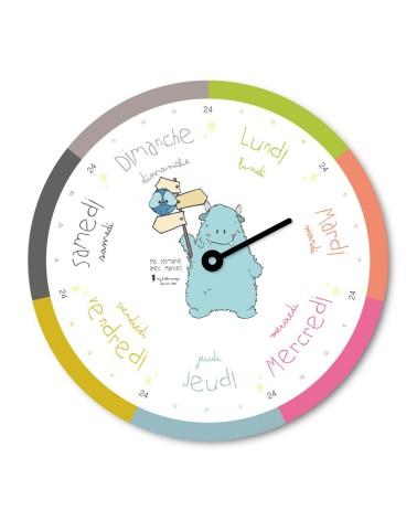 Horloge semaine Marcel