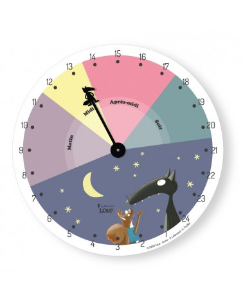 Horloge Loup étoile sur 24h